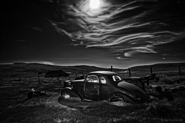 Old studebaker by moonlight sm