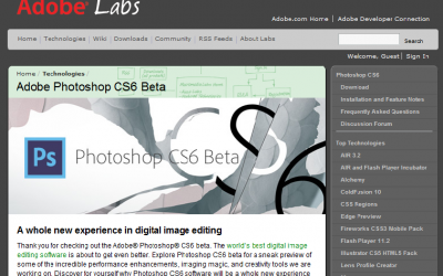 Adobe Announces Photoshop CS6 Beta (Download)